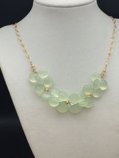 Handmade Apple Green Chalcedony, Ethiopian Opal, Gold Fill, and Sterling Silver Necklace Ear Jewelry, Beaded Jewelry, Handmade Jewelry, Jewelry Making, Beaded Necklaces, Jewellery, Pink Agate, Amethyst Necklace, Sterling Silver Necklaces