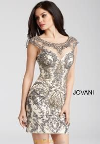Jovani Short and Cocktail 54548 Gunmetal Nude Beaded Cap Sleeve Fitted Short Dress 54548 Prom Dress Stores, Homecoming Dresses, Dusty Pink Bridesmaid Dresses, Short Dresses, Formal Dresses, Mini Dresses, Tight Dresses, Formal Wear, Girls Dresses