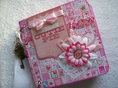 Valentine Chipboard Mini Album What a Cute Pie by ljbminis2021