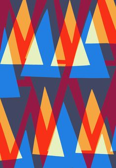 Up and Down Triangle Pattern - Sarah Bagshaw