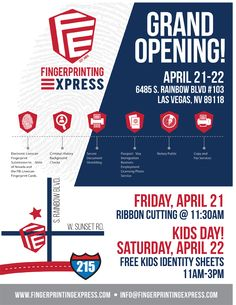 Fingerprinting Express Launches Third Nevada Location in Las Vegas with Grand Opening and Kid's Day Event, April 21 & 22 – Vegas24Seven.com
