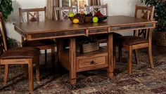 Sedona Rustic Oak Formal Rectangle Dining Table