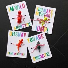 Tiny Animal Valentines- just print and add a toy to these adorable non candy valentine treats!