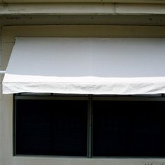 DIY Awning ~ On a larger scale would be great to shade a seating area