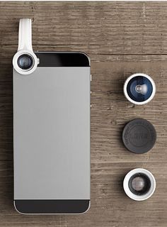 Christmas Stocking Stuffer Gifts for Men & Guys (like your boyfriend or husband):  Mini Photo Pro Lens Kit for any Apple or Android Smartphone @ Restoration Hardware