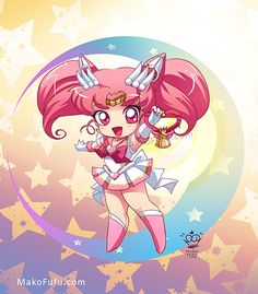 girlsbydaylight:  ↳ Chibi Super Sailor Senshi by Mako-Fufu