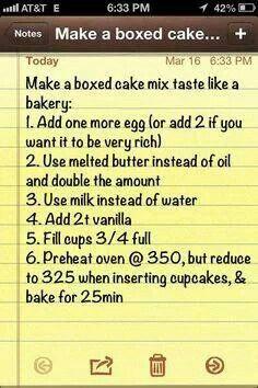 How to make a box cake taste like a bakery
