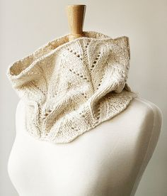 Knit Cowl - Women's Winter Neckwarmer Scarf in Baby Alpaca & Silk - White Ivory