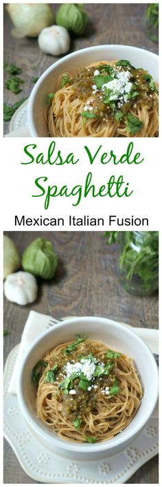 Salsa Verde Spaghett