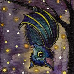 These remind me of my sister. <3 winged creatures trio 3 signed 8x8 prints by bsmithereens on Etsy, $25.00