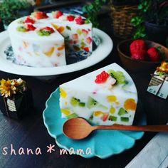 伸びっぱなし❤と、フルーツの宝石や~♪ミルキージューシーフルーツミルク寒天♪|しゃなママオフィシャルブログ「しゃなママとだんご3兄弟の甘いもの日記」Powered by Ameba