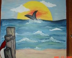 Kids room ocean theme mural for the 4 sides of the by RehabSpirit, $300.00