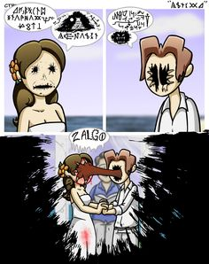 10 Zalgo Images Comics Creepypasta Garfield