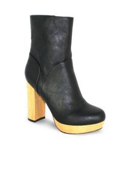 C. Label Black Natori 1 Faux Wood Boot