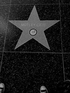 Motley Crue's star on the Walk of Fame -- Definitely going to be seeing it when I visit LA  in 2 weeks.