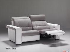 divano in pelle grigio tre posti - Cerca con Google