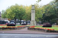 The clock at Davyhulme Circle, Davyhulme, Manchester