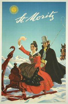 Vintage Ski Travel Poster - St-Moritz Mini Art Print by rossgilmore Fürstentum Liechtenstein, Vintage Ski Posters, Tourism Poster, Travel Ads, Ville France, Air France, Poster Prints, Art Prints, Advertising Poster