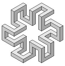 Drawing Unique Greyscale figures - Impossible world Illusion Drawings, 3d Drawings, Illusion Art, Isometric Drawing, Isometric Design, Impossible Shapes, Art Cube, Cool Optical Illusions, Graph Paper Art