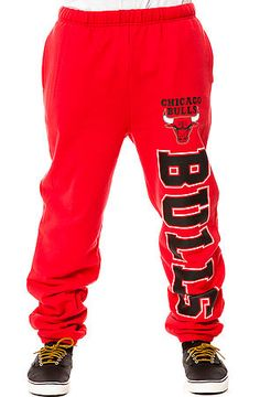 Mitchell & Ness Sweatpants Chicago Bulls in Red  Use Rep Code: theartfuldamsel for discount