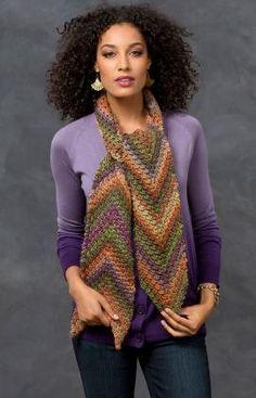 Best Free Crochet » Free Desert Arrow Scarf Crochet Pattern From RedHeart.com #210