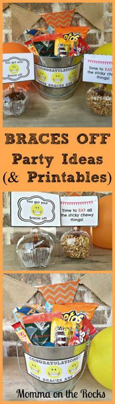 Braces off party idea