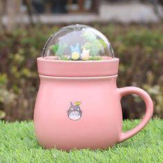Fashion MY Neighbor Totoro Studio Ghibli Mug Cup Coffee Tea Cup pink