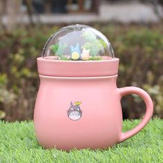 Fashion MY Neighbor Totoro Studio Ghibli Mug Cup Coffee Tea Cup pink