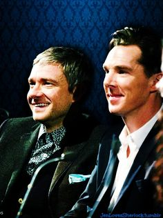 To get you even more excited about January 1, here's some snaps of Benedict Cumberbatch & Martin Freeman from today's BFI Q&A. http://www.pinterest.com/aggiedem/sherlock-addict/