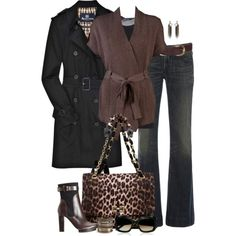 Black and Brown, created by partywithgatsby on Polyvore