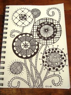 This is my first attempt at zentangles, which I fell for here on Pinterest! #tinkersketch Doodle Designs, Learn To Draw, Zentangles, I Fall, Tangled, Something To Do, Art Ideas, Doodles, Printables