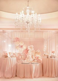 Rose Gold Pink Wedding - Reception table set up