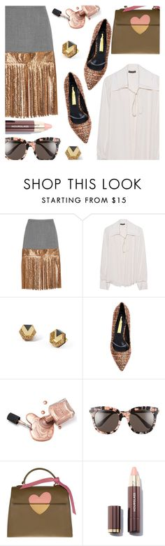 """""""Touch of Shine"""" by stacey-lynne ❤ liked on Polyvore featuring J.Crew, Plein Sud, Wolf & Moon, Rupert Sanderson, Gentle Monster and Coccinelle"""