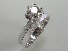 Vintage Old European Cut Diamond Wedding Set  by lonestarestates, $2025.00