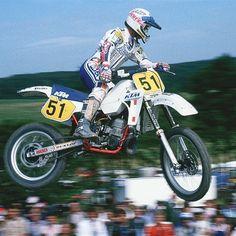Magoo doing what he does best. #legend #ktm#motocrosshistory #motocross #dannychandler #europe #goat#norcal #nevergiveup via ✨ @padgram ✨(http://dl.padgram.com)
