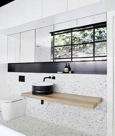 Top 38 Terrazzo Bathroom Tiles Inspire for Wall and floors - My Dream House Patricia Urquiola, Bathroom Goals, Small Bathroom, Modern Bathroom, Modern Sink, Bathroom Sinks, White Bathroom, Bathroom Interior Design, Home Interior