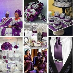 Purple Nigerian Wedding this is beautiful!!!  Follow @ChiefWedsLolo.com - Nigerian Wedding Planning Blog (Traditional and Church/Mosque) for more purple Nigerian weddings.