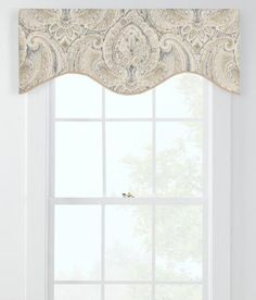 Casablanca Lined Scalloped Valance   Country Curtains®