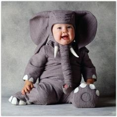 Adorable toddler elephant costume! Thought of you @Ellie Holtz when I saw this. Maybe a halloween costume idea for your future little ones!