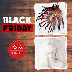 10% OFF on select products. Hurry, sale ending soon!  Check out our discounted products now: https://www.etsy.com/shop/THEWORLDOFFEATHERS?utm_source=Pinterest&utm_medium=Orangetwig_Marketing&utm_campaign=BLACKFRIDAY   #etsy #etsyseller #etsyshop #etsylove #etsyfinds #etsygifts #halloween #coiffure #headdress #indianheaddress #penacho #warbonnet #kopfschmuck #copricapo #instafollow #shop #makeup #loveit #instagood #love #musthave #photooftheday #shopping #instacool #onlineshopping…