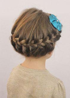 Sensational Little Girl Hairstyles Crown Braids And Girl Hairstyles On Pinterest Short Hairstyles Gunalazisus
