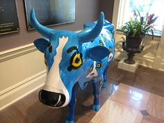 Blue Dog + Cow Parade!