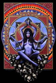 Kali goddess of time, change and annihilation