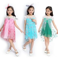 Wholesale 2015 New Children's Clothing Girls Short-sleeved Dress Princess Fantasy Snowflake Net Veil Dress Kids Princess Dress Free Shippin Online with $82.65/Piece on Comely2015's Store | DHgate.com Girls Fancy Dresses, Flower Girl Dresses, Fantasy Princess, Short Girls, Veil, Girl Outfits, Tulle, Dresses With Sleeves, Sleeved Dress
