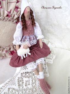Куклы Тильды ручной работы. Ярмарка Мастеров - ручная работа Полли с овечкой. Handmade.