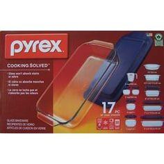 #3: Pyrex Glass 17pc Bake Store Serve Set w/Lids