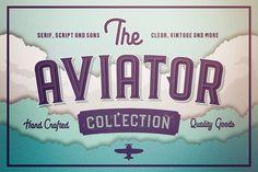The Aviator Font family