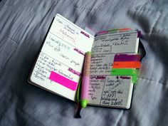 Moleskine pocket planner / colored tabs / to-do lists / weekly / diy planner / organization