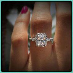 71a3d5b5fd60 14k White Gold 2.00 Ct Emerald Cut VVS1 Halo Diamond Engagement Wedding  Ring  weddingrings Engagement