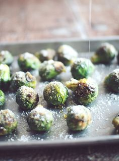 Honey Parmesan Roasted Brussels Sprouts~ This is a great recipe to get kids to not only 'eat', but 'love' their veggies!